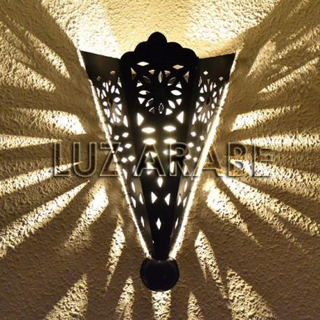 Openwork iron sconce of medieval style
