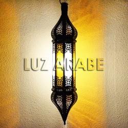 Lustre marocain octogonale en verre bicolore