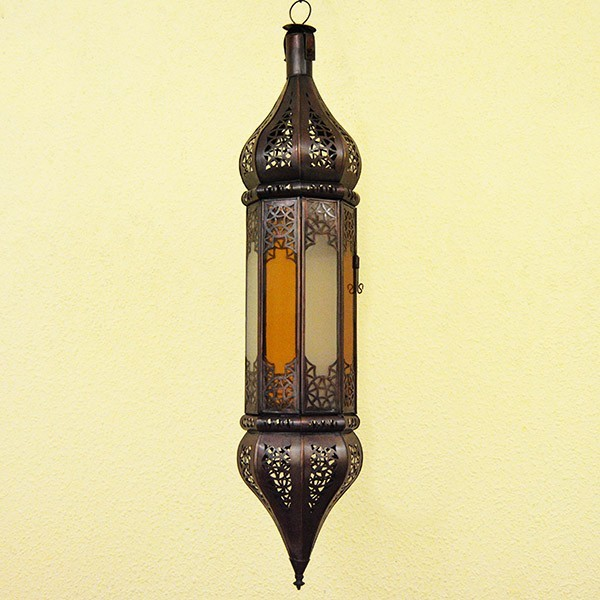 Buy Octagonal Moroccan Ceiling Light Of Two Color Glass 70 Cm
