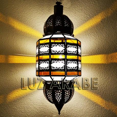 Grande lampe plafonnier andalou bicolor