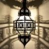 Candeeiro árabe octogonal de vidro
