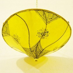 Marokkanische Deckenlampe aus leder farbe gelbe