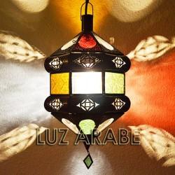 Lampe plafonnier andalouse de verre coloré