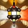 Candeeiro de tecto andaluz de vidro colorido