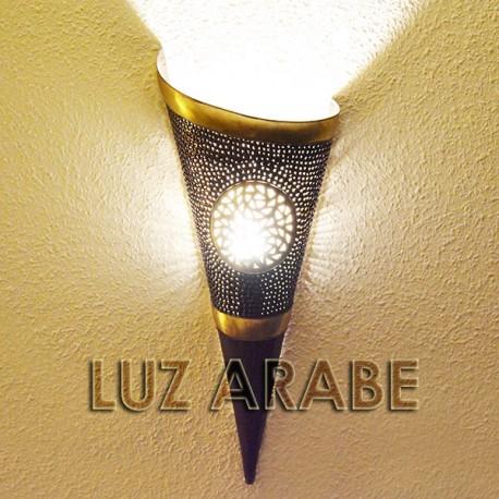 Acheter grand applique murale torche de cuivre ajour incrust 52 cm - Apliques arabes ...