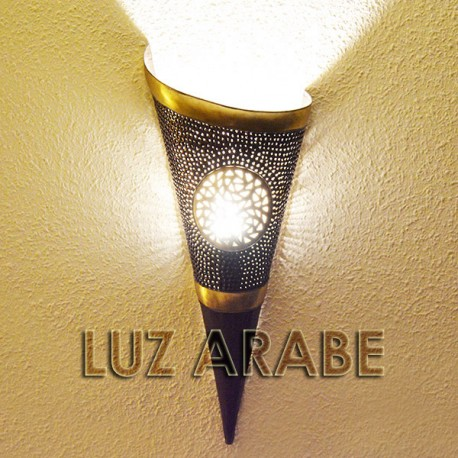 Buy large torch shape wall sconce of inlaid copper 52 cm large torch shape wall sconce of copper aloadofball Choice Image