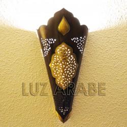 Grande candeeiro de parede árabe de cobre perfurado