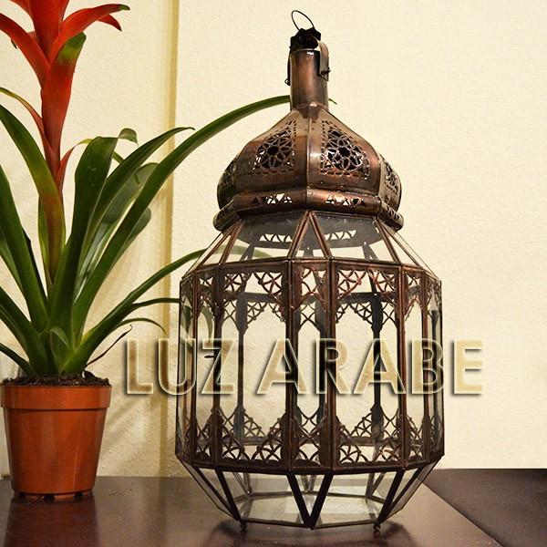Kaufen gro e laterne aus transparentem glas 58 cm for Laterne aus glas