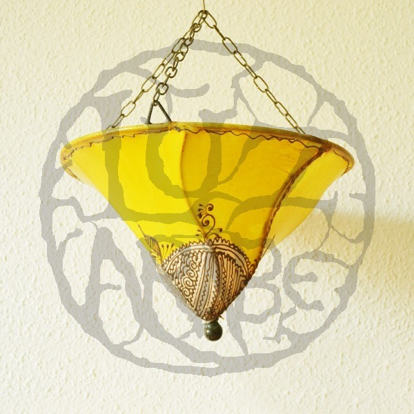 Ceiling Lights Yellow : Buy lily from ceiling light shade of yellow color cm