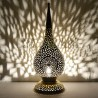 Dewdrop shape large Moroccan lamp of pierced brass
