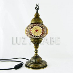 Turkish mosaic table lamp with amber tone
