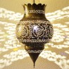 Lampe suspension marocain en laiton de forme pomegranate