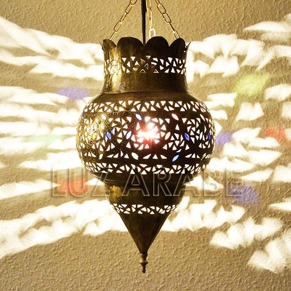 Compre la lampara marroqu forma granada de lat n - Lamparas granada ...