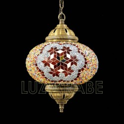 Turkish ceiling lamp with mosaic multicolor globe