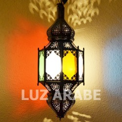 Andalusian octagonal lamp with two domes