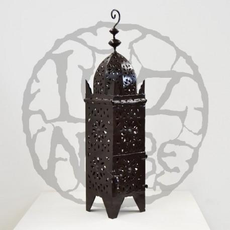 Openwork iron lantern of a Koutoubia minaret shape