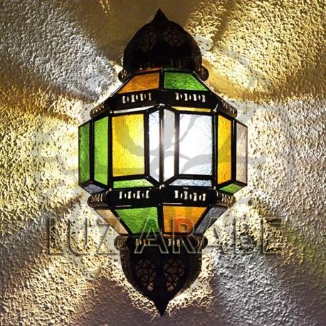 Aplique árabe de cristal y forja calada