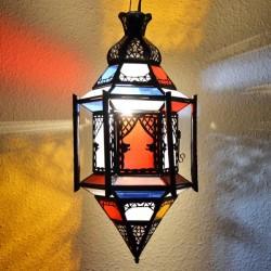 Lampade esagonale andaluso con barre