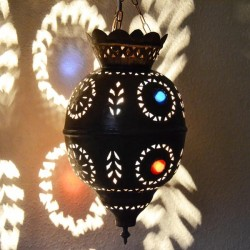 Lámpara árabe forma Granada de de bronce