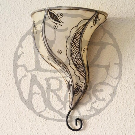 orchid from painted leather sconce