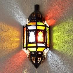 Aplique de pared andalusí de cristal con arcos y barras