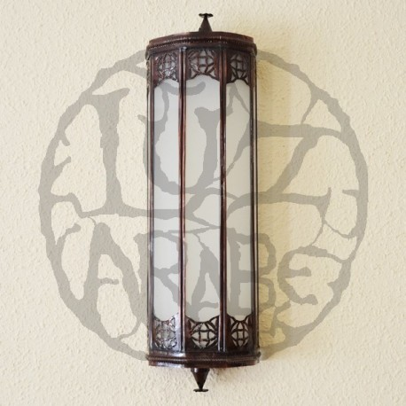 Royal wall sconce of bronze and white glass