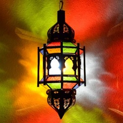 Andalusian octagonal lamp with bars and domes