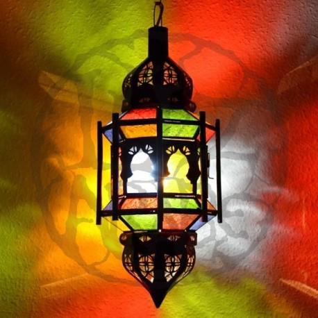 Lampe plafonnier octogonale andalou avec bars et dômes