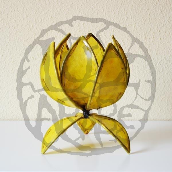 Acquista lampada da tavolo a forma di fiore di loto in pelle ...