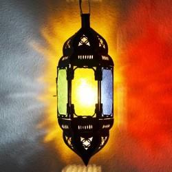 Lampe plafonnier hexagonale andalou