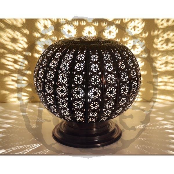 Ajourée Lampe En Cm Bronze À Poser Forme 33 Sphère Fer Acheter De kwPuTlOXZi