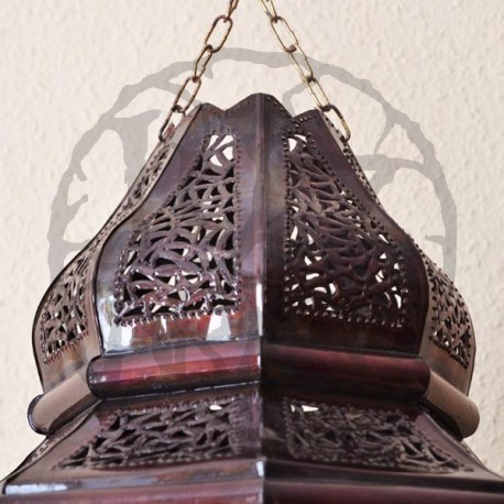 Large andalusian octagonal lamp with arcs