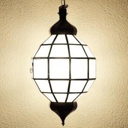 Lámpara esfera de cristal opaco blanco