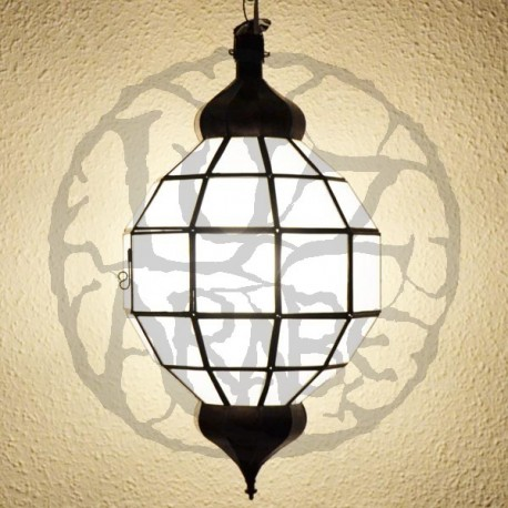 Sphere-shape white-crystal lamp