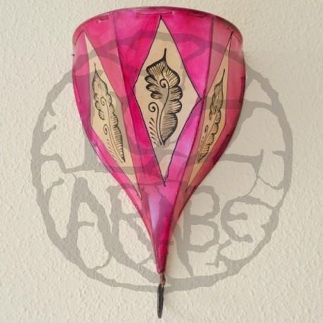 Aplique tulipa de couro pintado