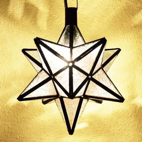 Lampada stella in di vetro traslucido