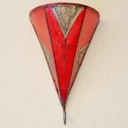 lily from painted leather sconce