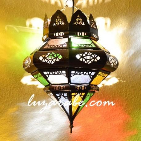 Lámpara árabe forma bellota con corona