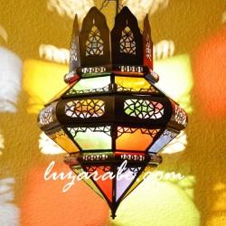 Candeeiro grande coroa árabe em forma de bolota