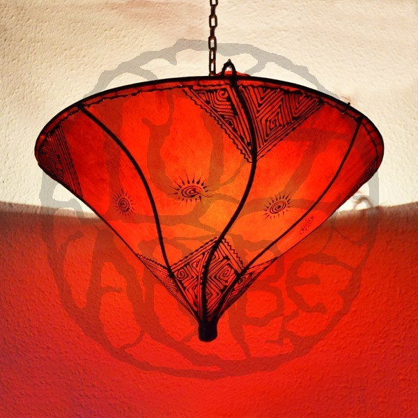 Buy Lily From Ceiling Light Shade Of Red Color 50 Cm