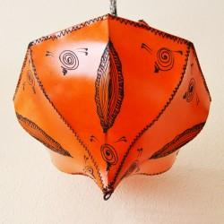 Plafond de tecto tulipa de couro pintado
