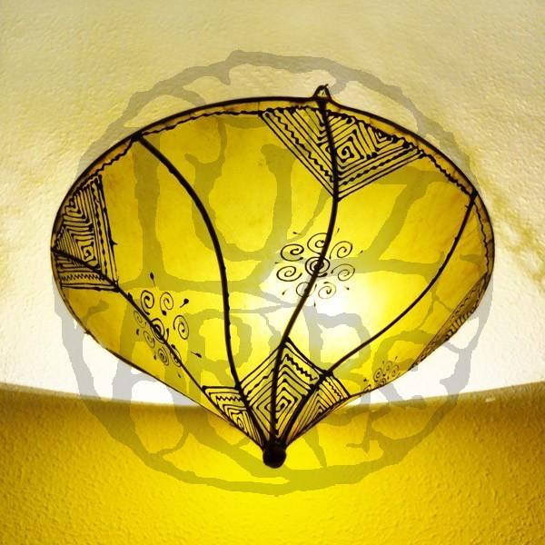 Farbe Aus Was: Kaufen Marokkanische Deckenlampe Aus Leder Farbe Gelbe 50 Cm