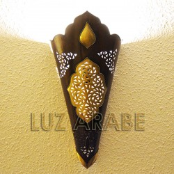 Large arabic wall sconce of copper