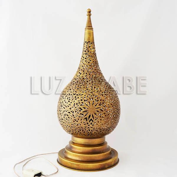 de Lagrima calado arabe Lampara de cobre sobremesa forma de kXOiwPZuT