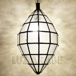 Grand oval-shape moroccan ceiling lamp