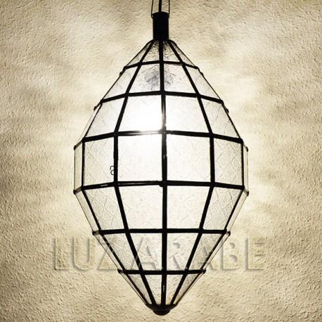 Grande lampade marocchine di forma ovale in vetro stampato