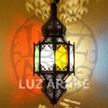 Lampe octogonale andalou avec deux dômes