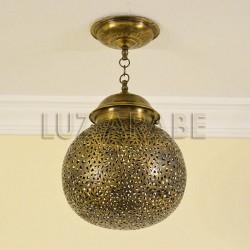 Lampara marroquí de latón forma esfera