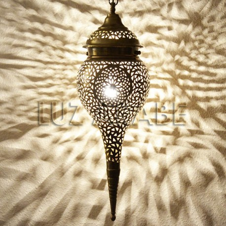 Stalactite shape Moroccan brass ceiling lamp
