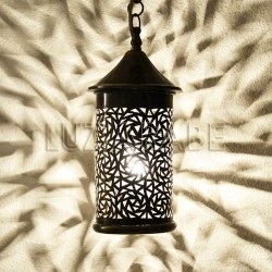 Cylinder shape Moroccan brass ceiling lamp